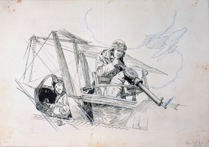Sketch of Pilot and Observer