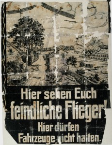 German Air Raid Information Poster