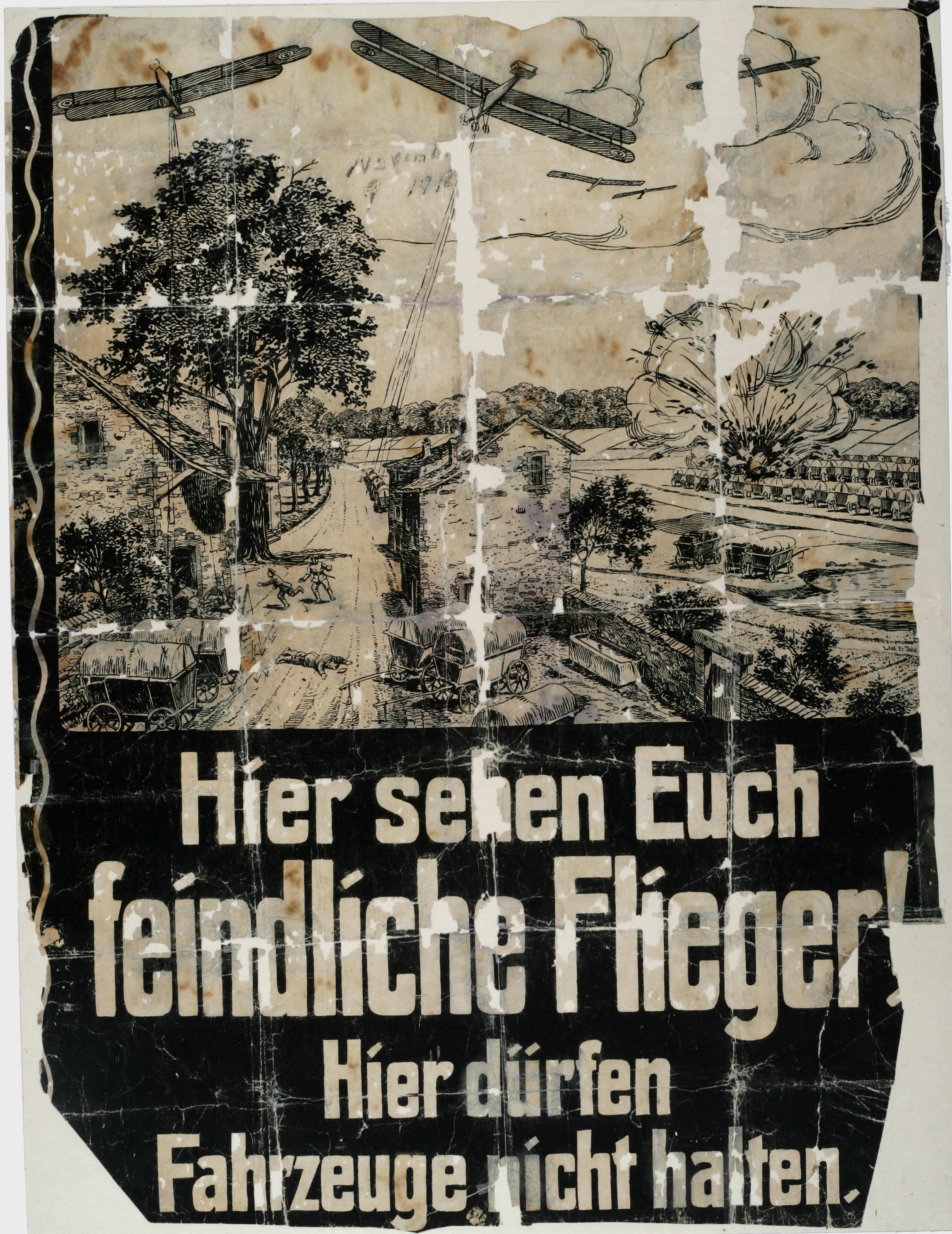 German Air Raid Information Poster