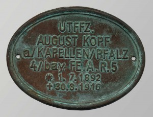 German Grave Marker