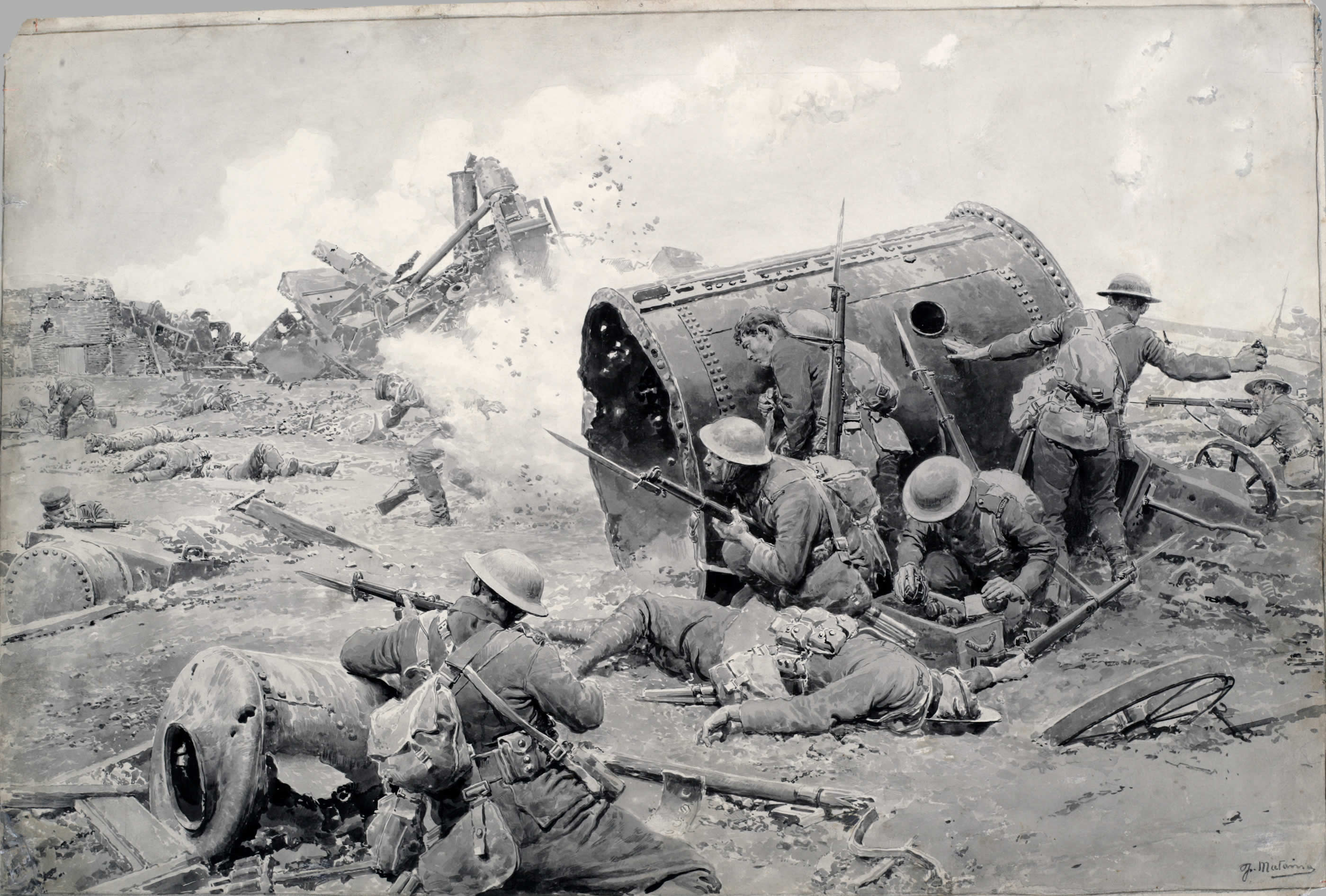 Image result for the canadians at courcelette