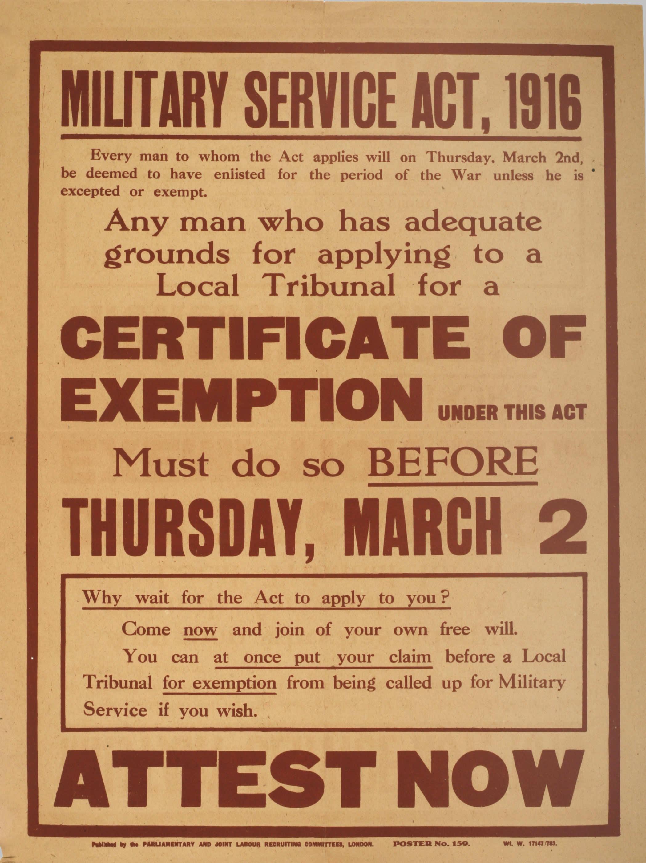 <i>Military Service Act, 1916</i>