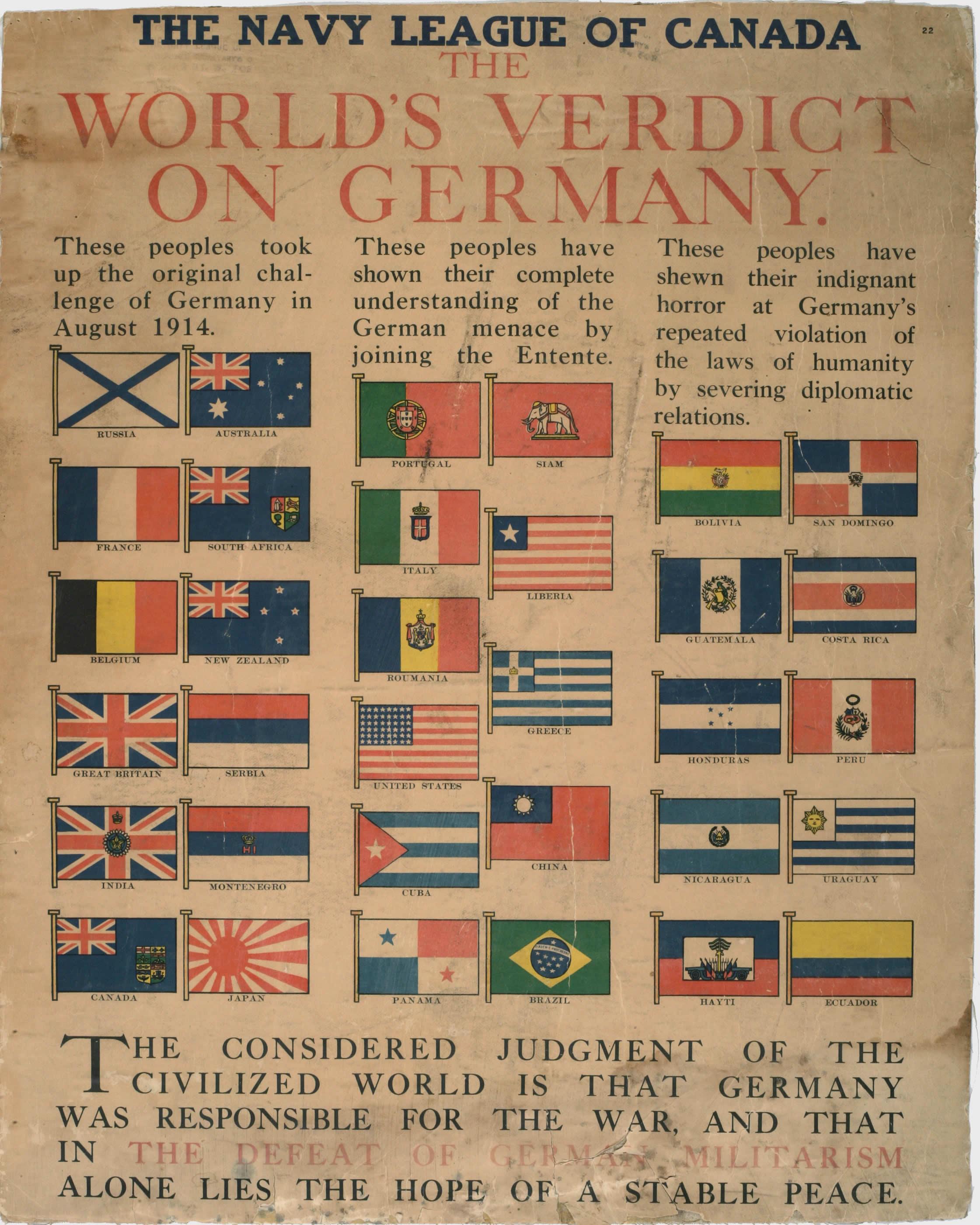 <i>The World's Verdict on Germany</i>