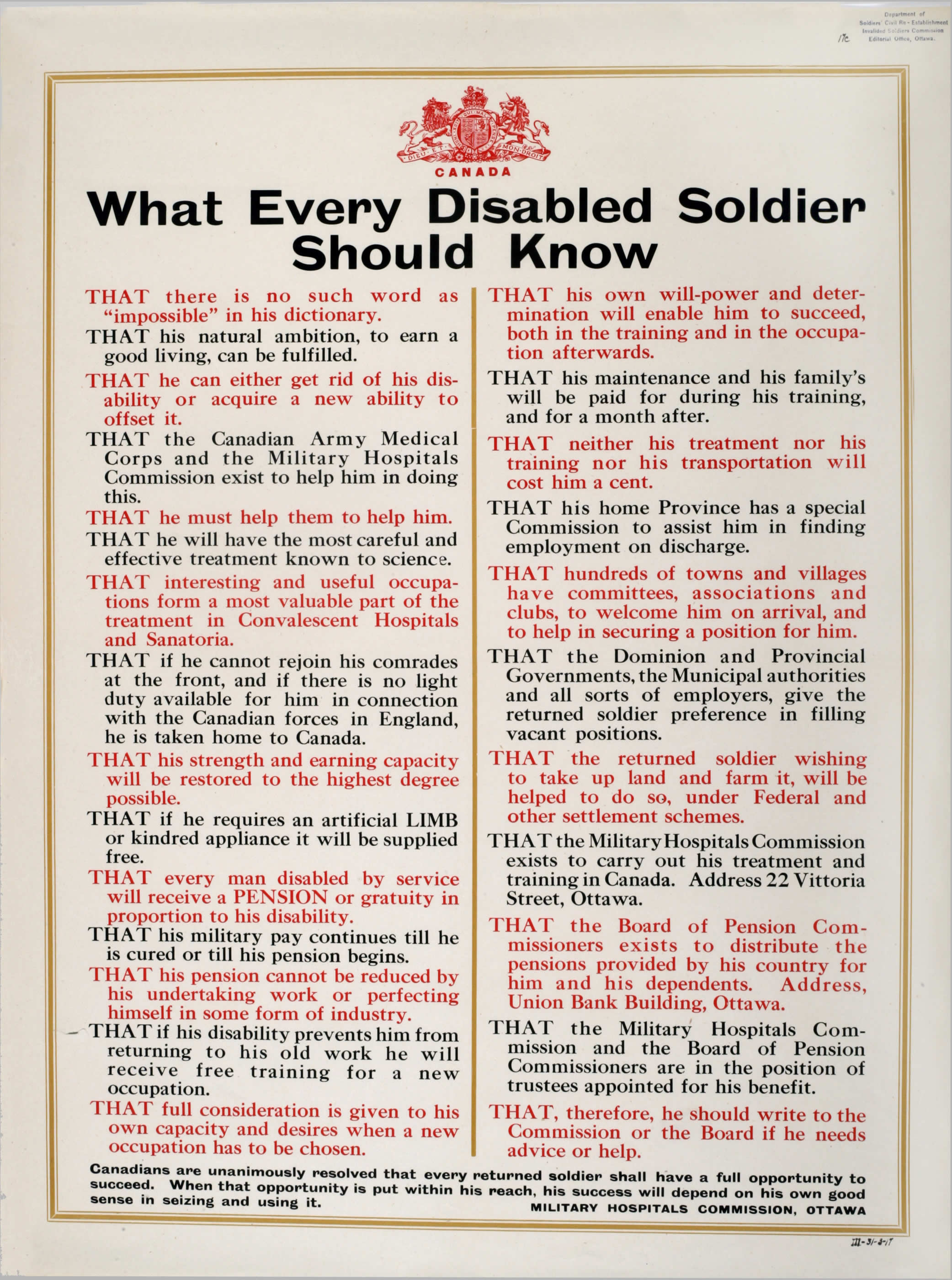 <i>What Every Disabled Soldier Should Know</i>