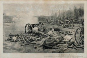 """""""L"""" Battery, R.H.A. Retreat from Mons"""