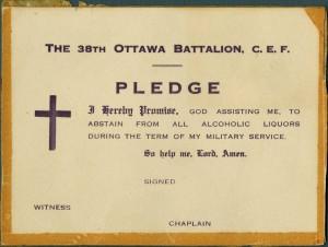 Temperance Pledge