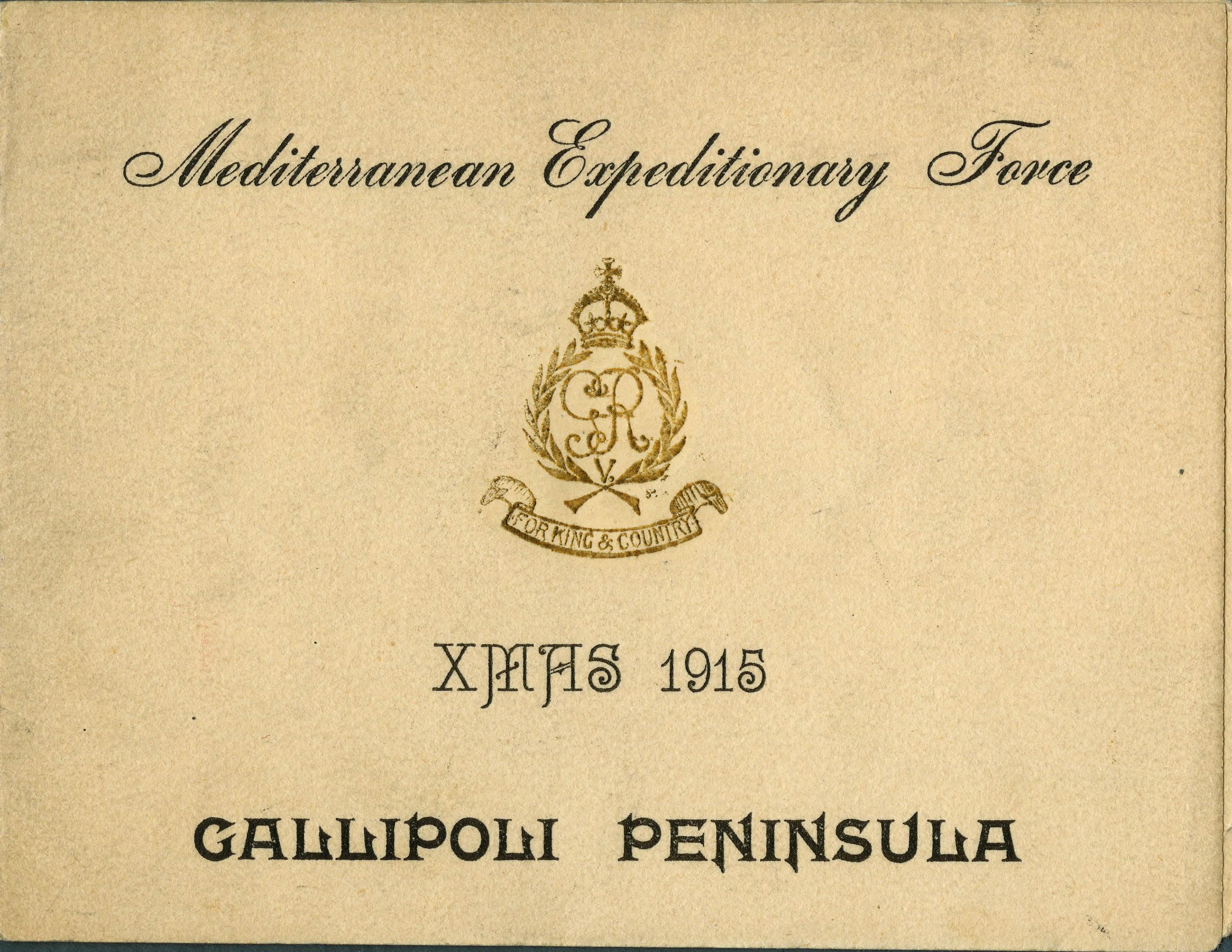 Christmas Card, Gallipoli
