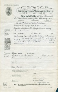 Hurt Certificate