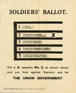 Soldiers' Ballot.