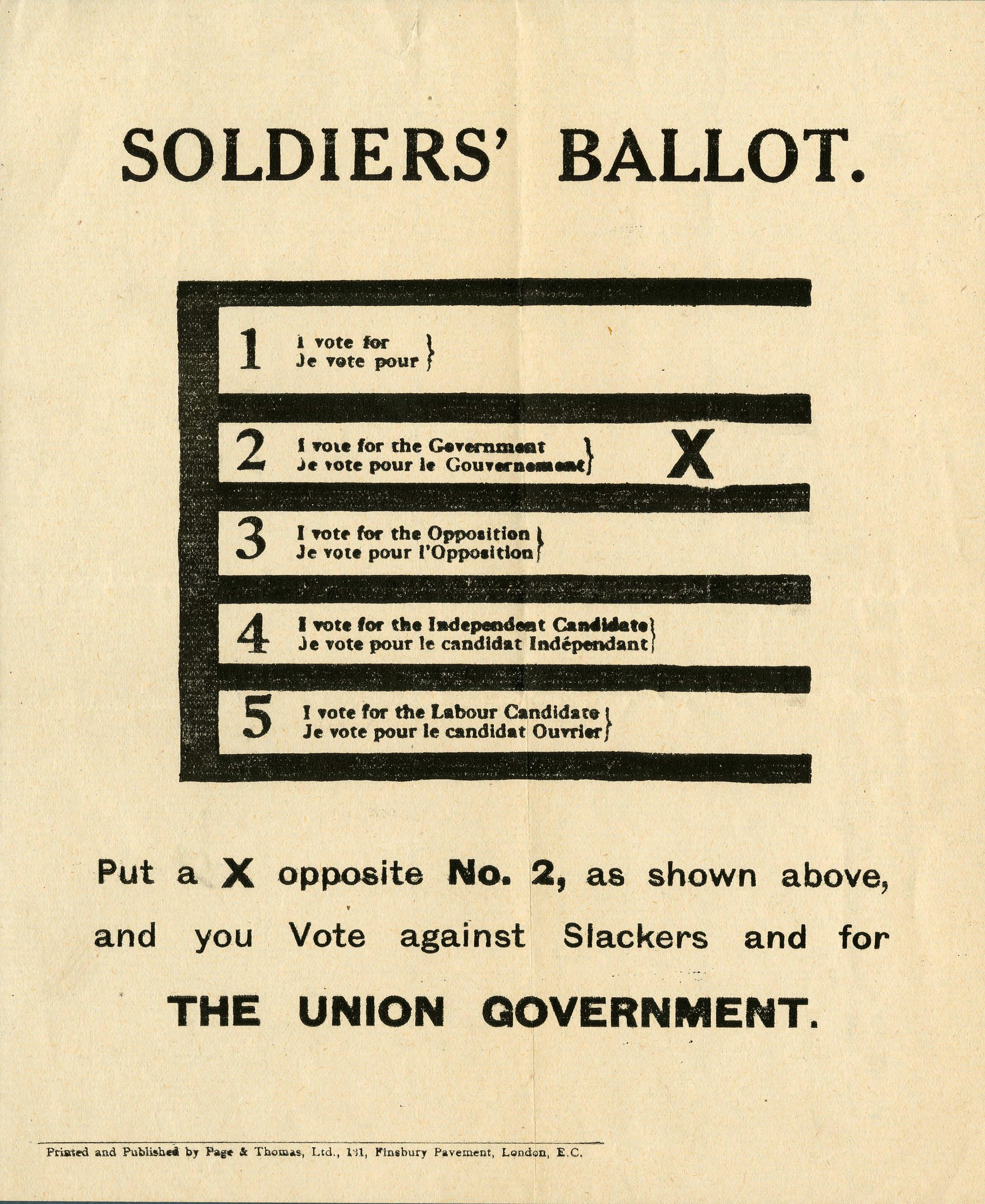 <i>Soldiers' Ballot.</i>