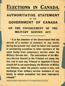 Enforcement of the Military Service Act