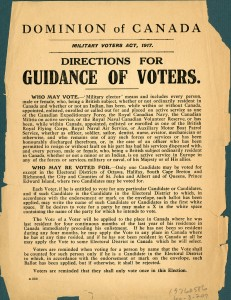 Directions for Voters