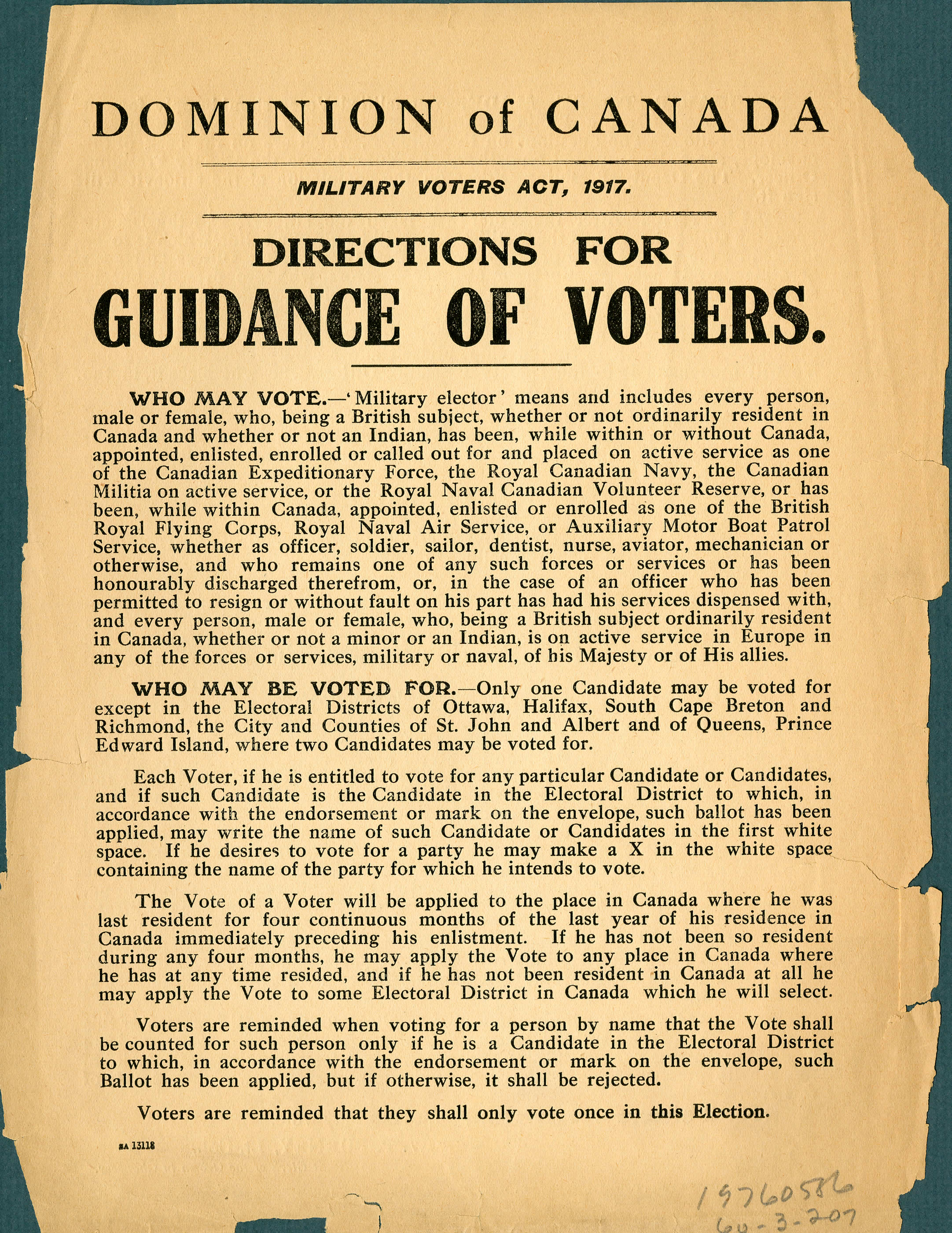 <i>Directions for Voters</i>
