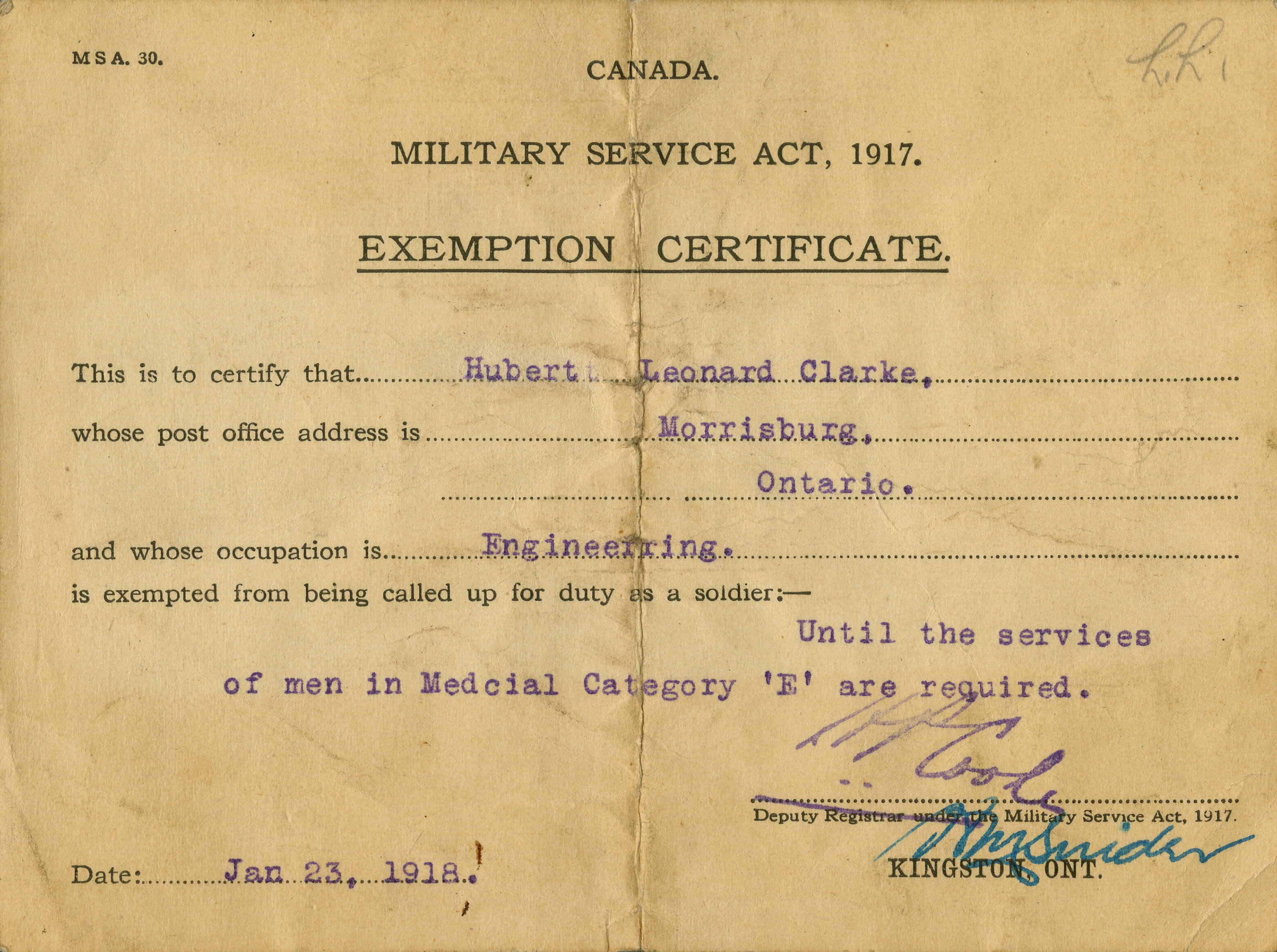 Government documents exemption certificate canada and the first exemption certificate altavistaventures Image collections