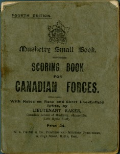 Musketry Scoring Book
