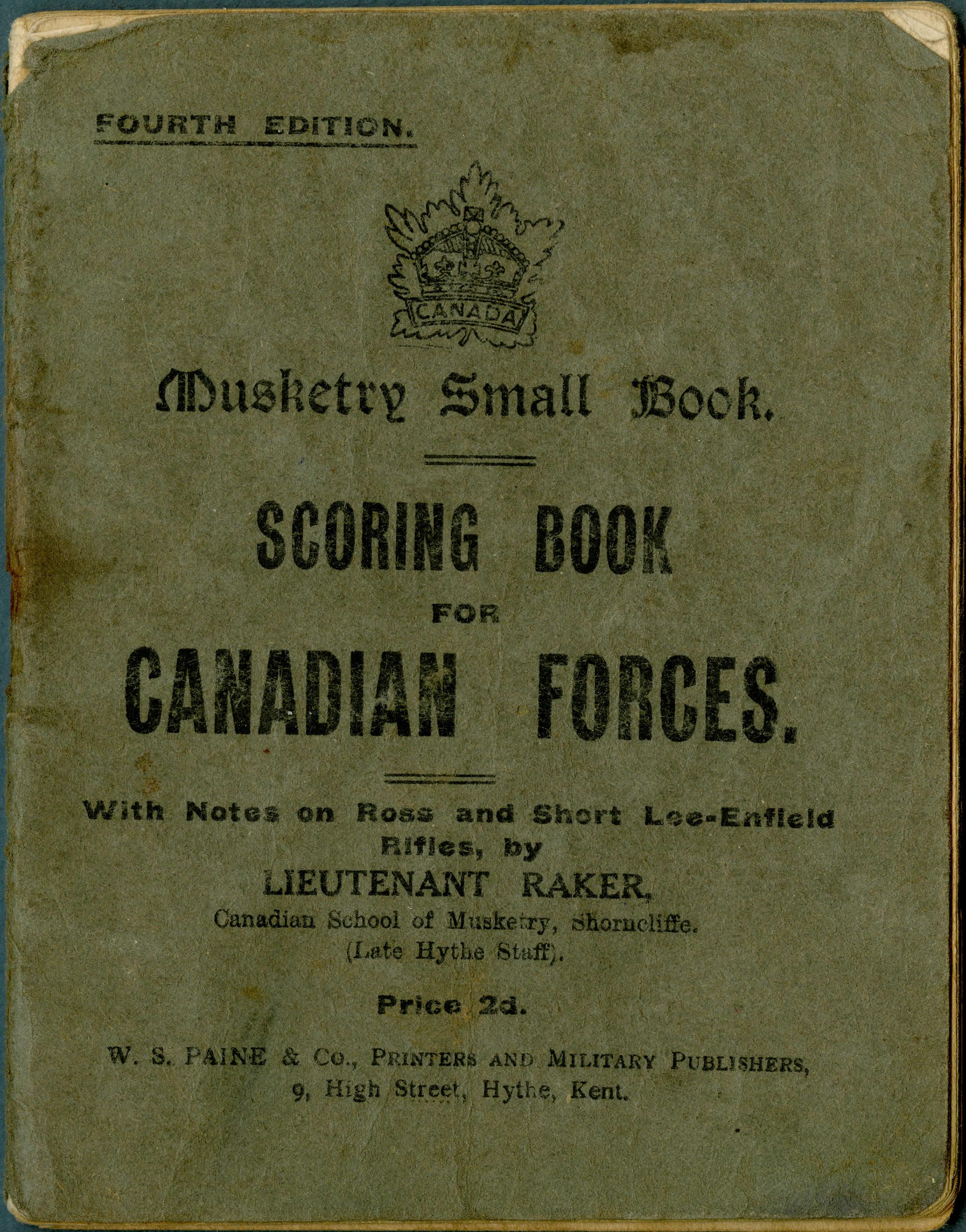 Musketry Scoring Book