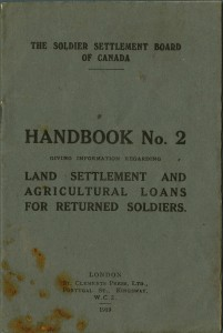 Land Settlement and Agricultural Loans