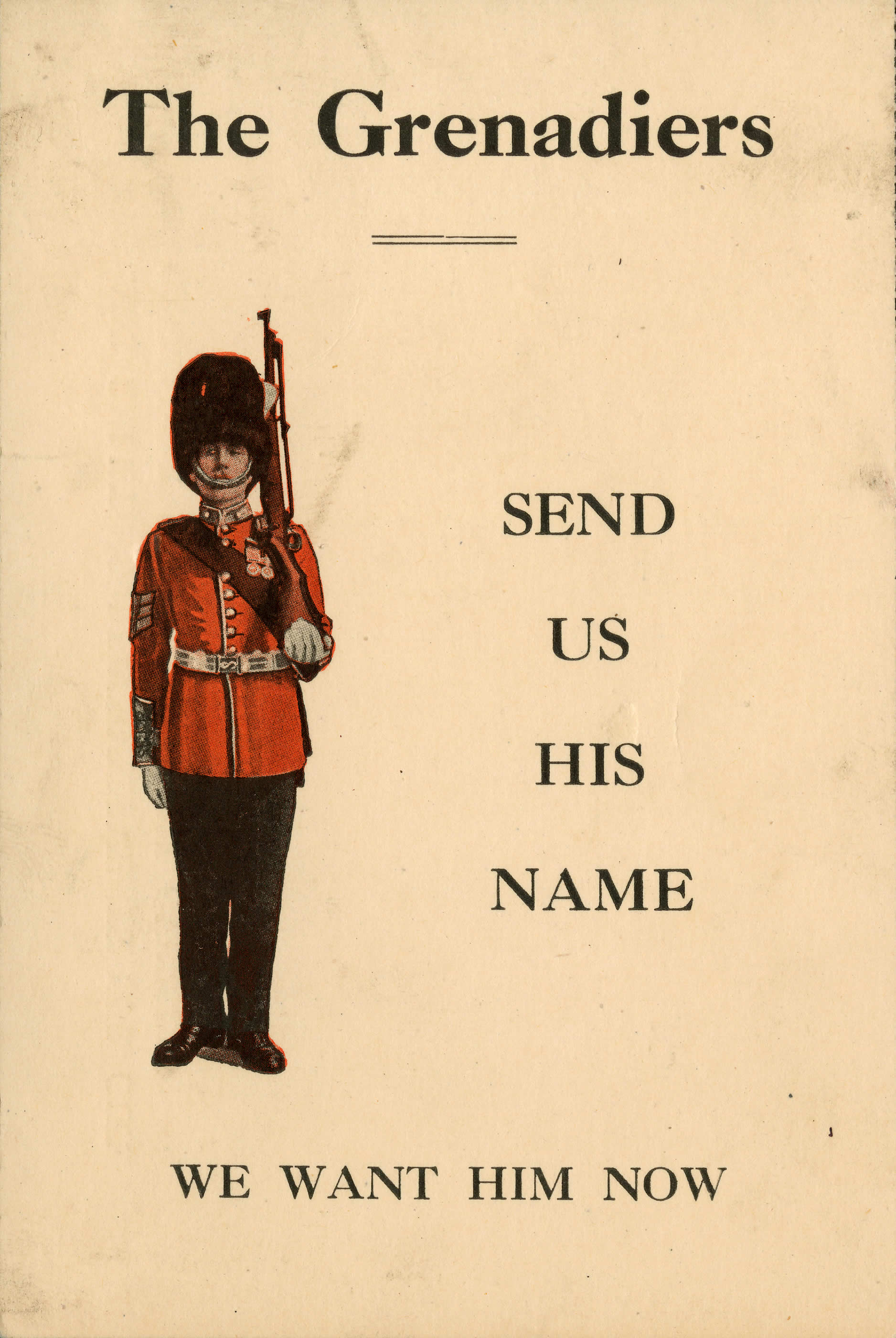 <i>Send Us His Name</i>