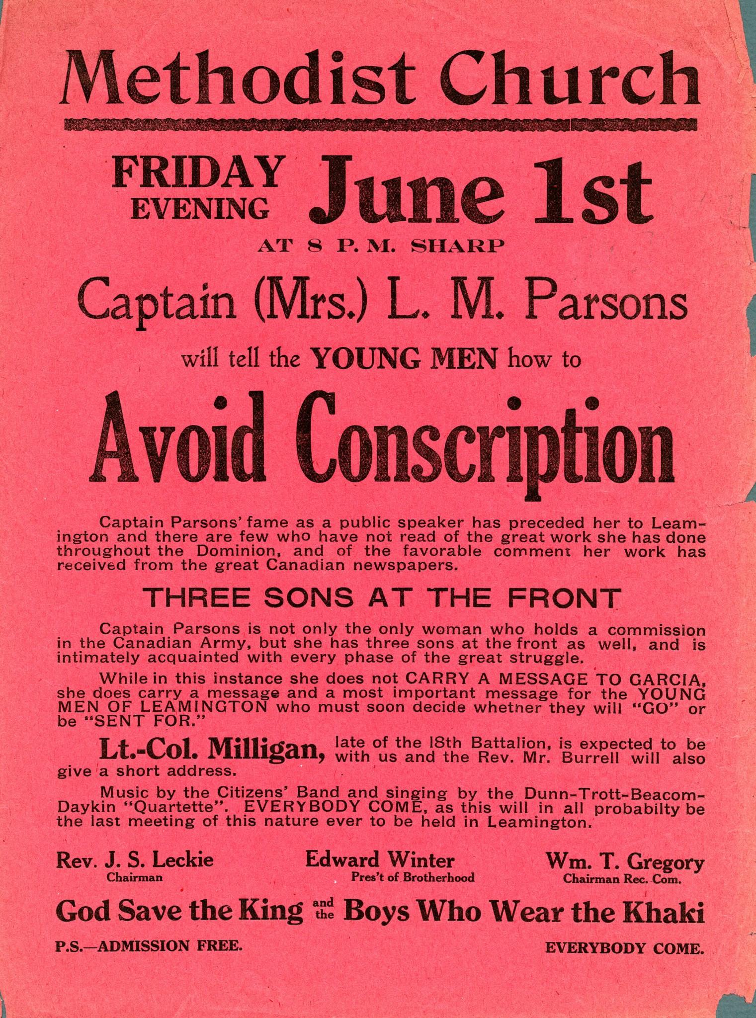 essay on conscription in canada