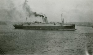 Franconia Arriving at Plymouth