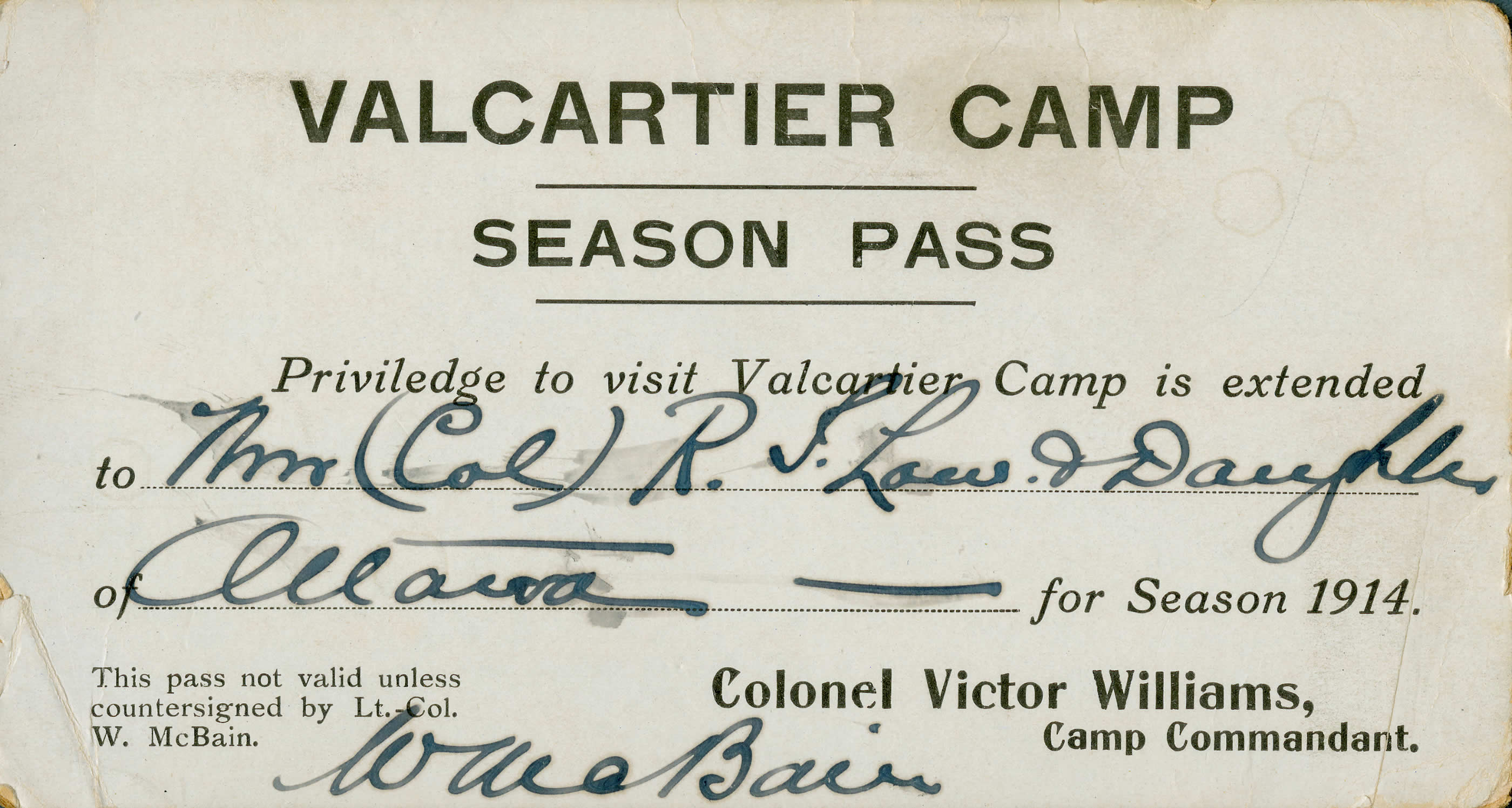 Valcartier Pass