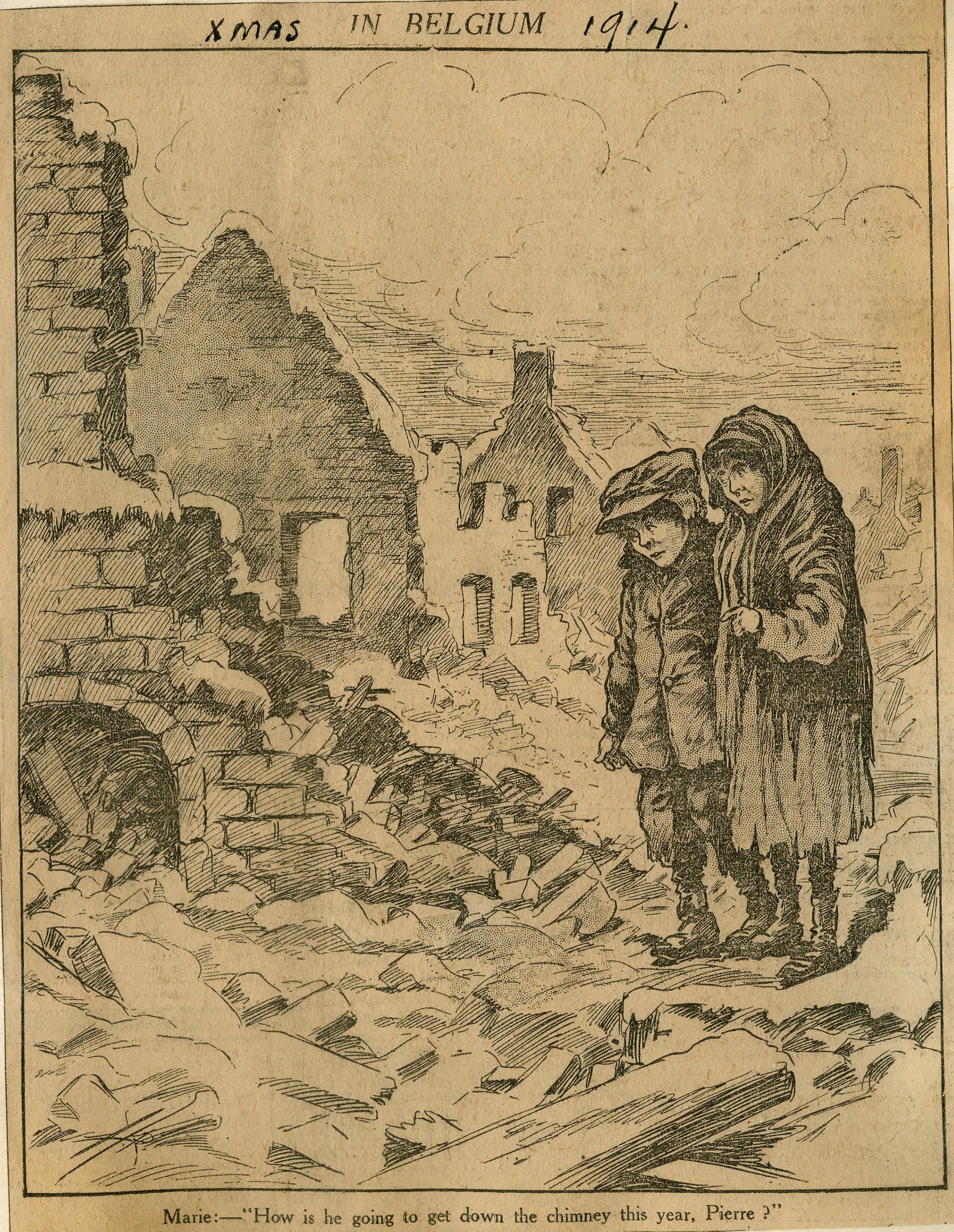 <i>Xmas in Belgium, 1914.</i>