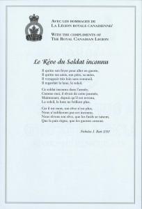 Le Rêve du Soldat inconnu (The Unknown Soldier's Dream)