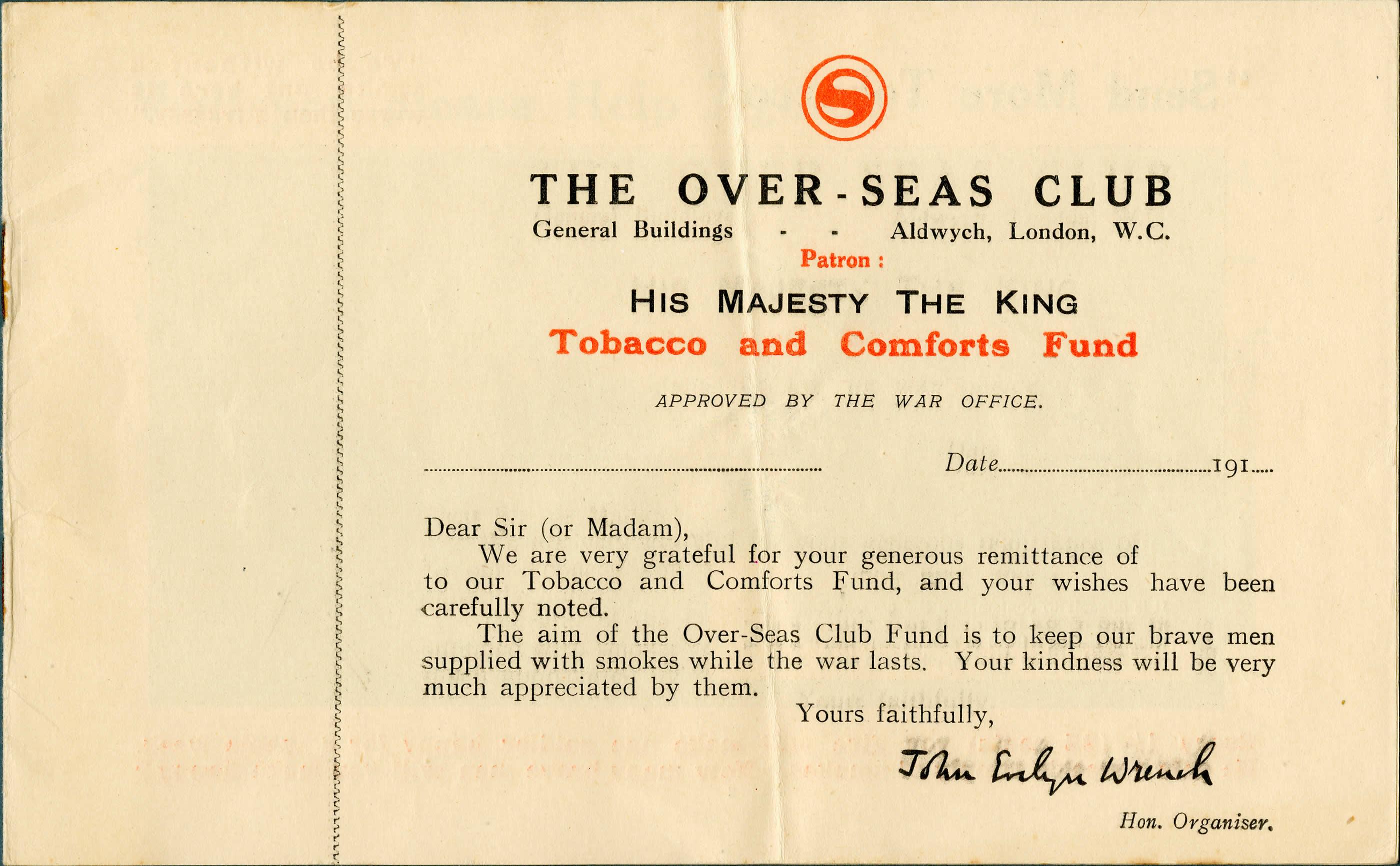 Over-seas Club Tobacco Fund