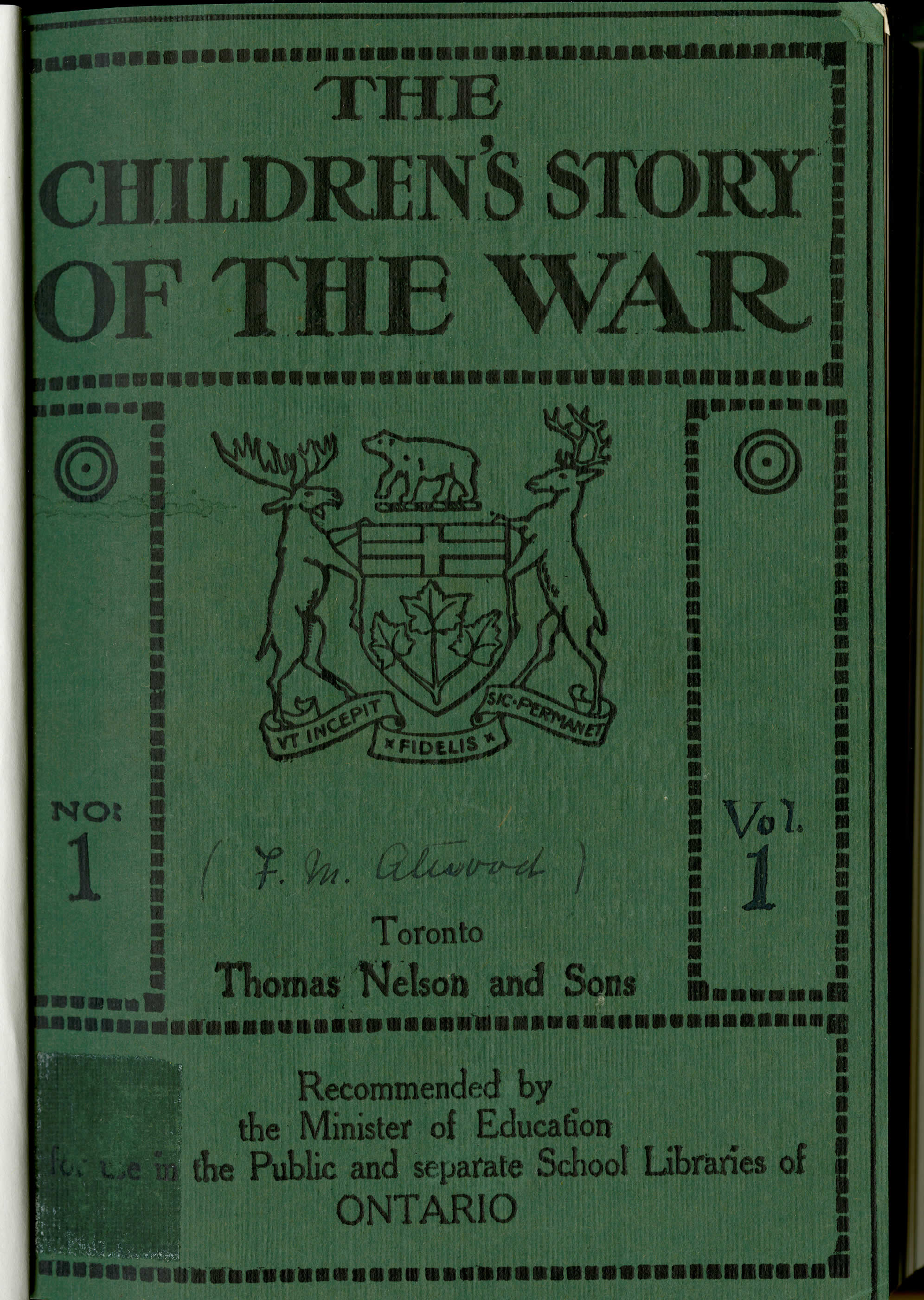 <i>The Children's Story of the War</i>