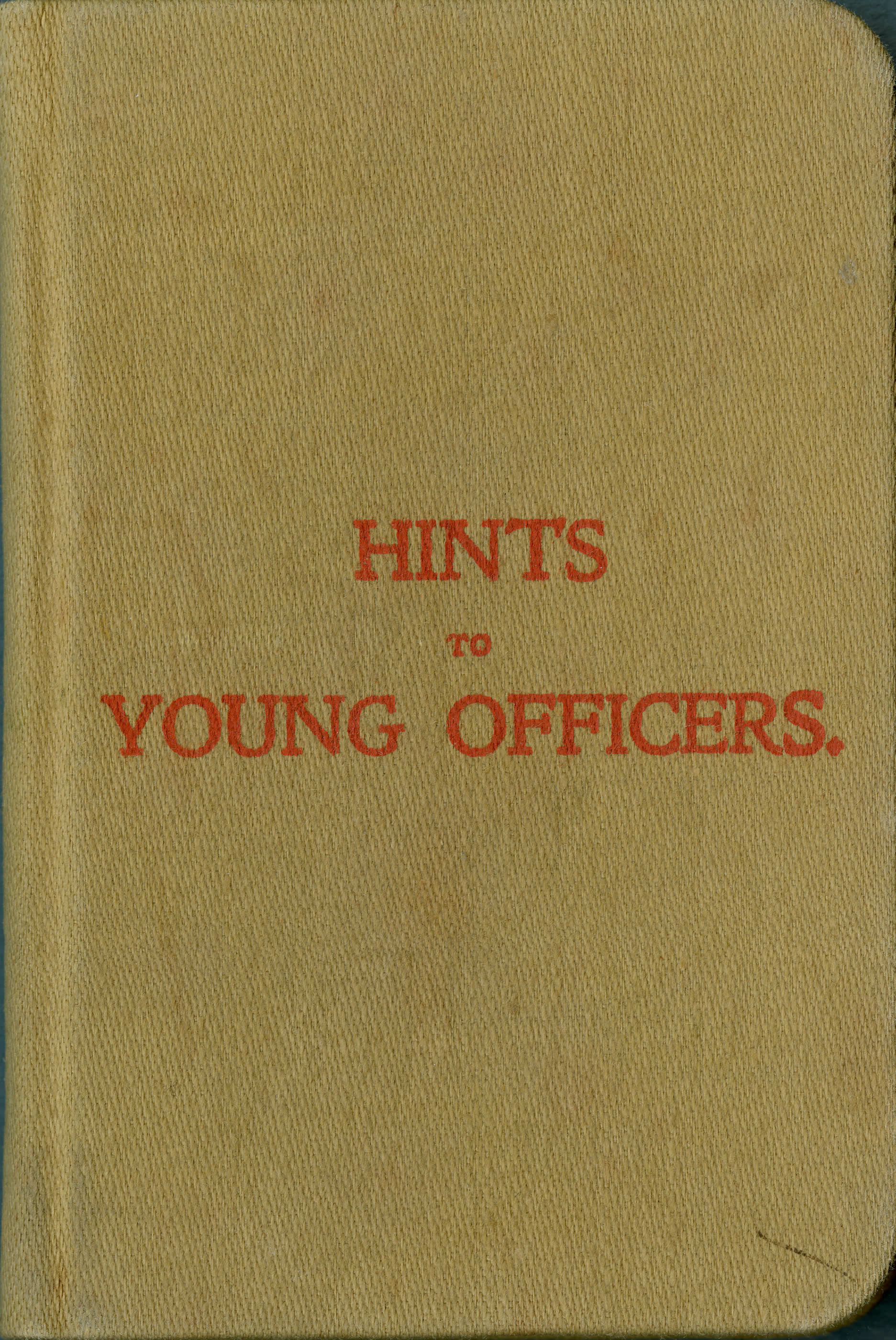 <i>Hints to Young Officers</i>