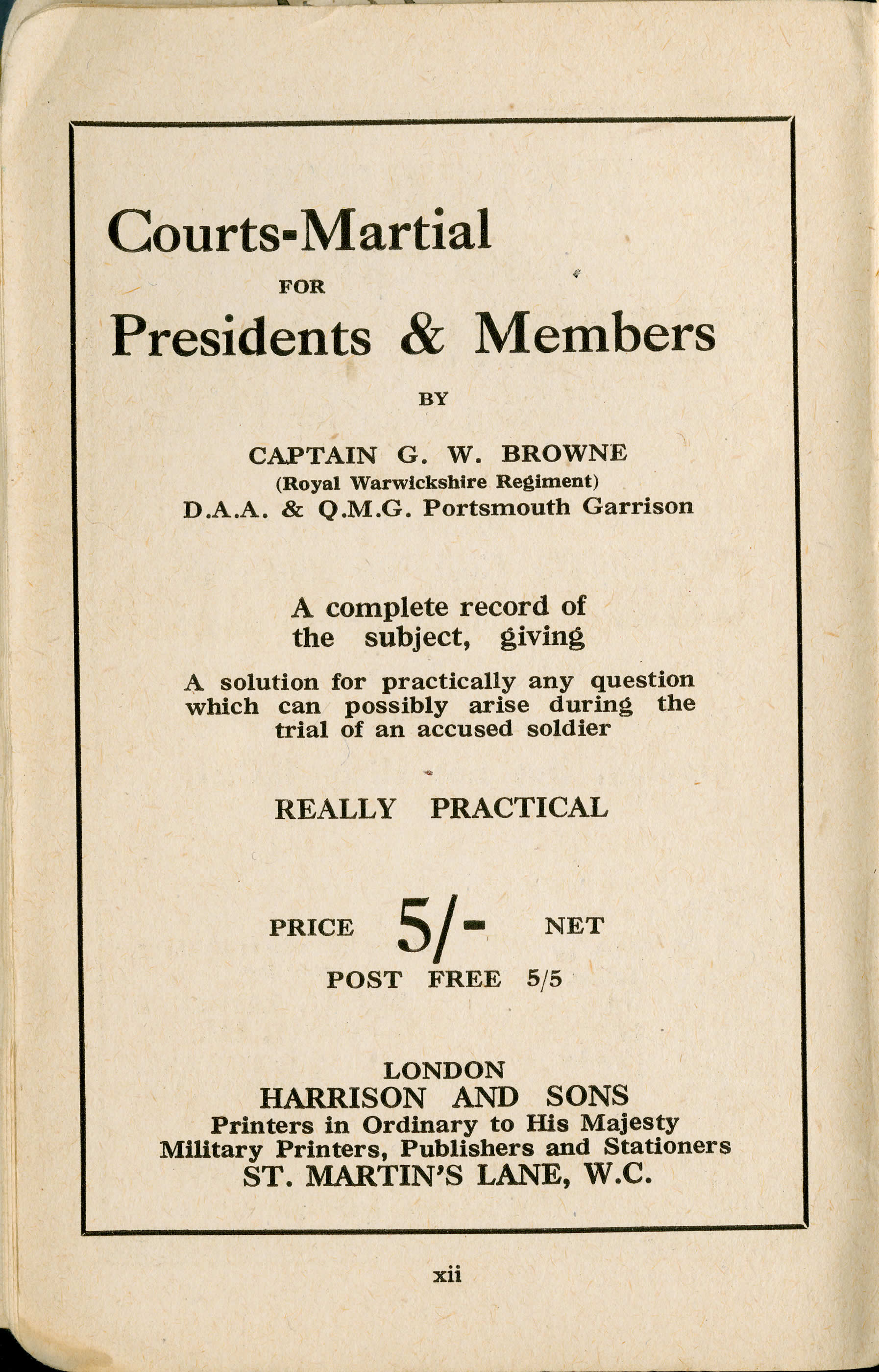 Courts-Martial for Presidents & Members