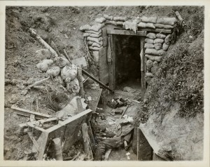 Demolished German Trench