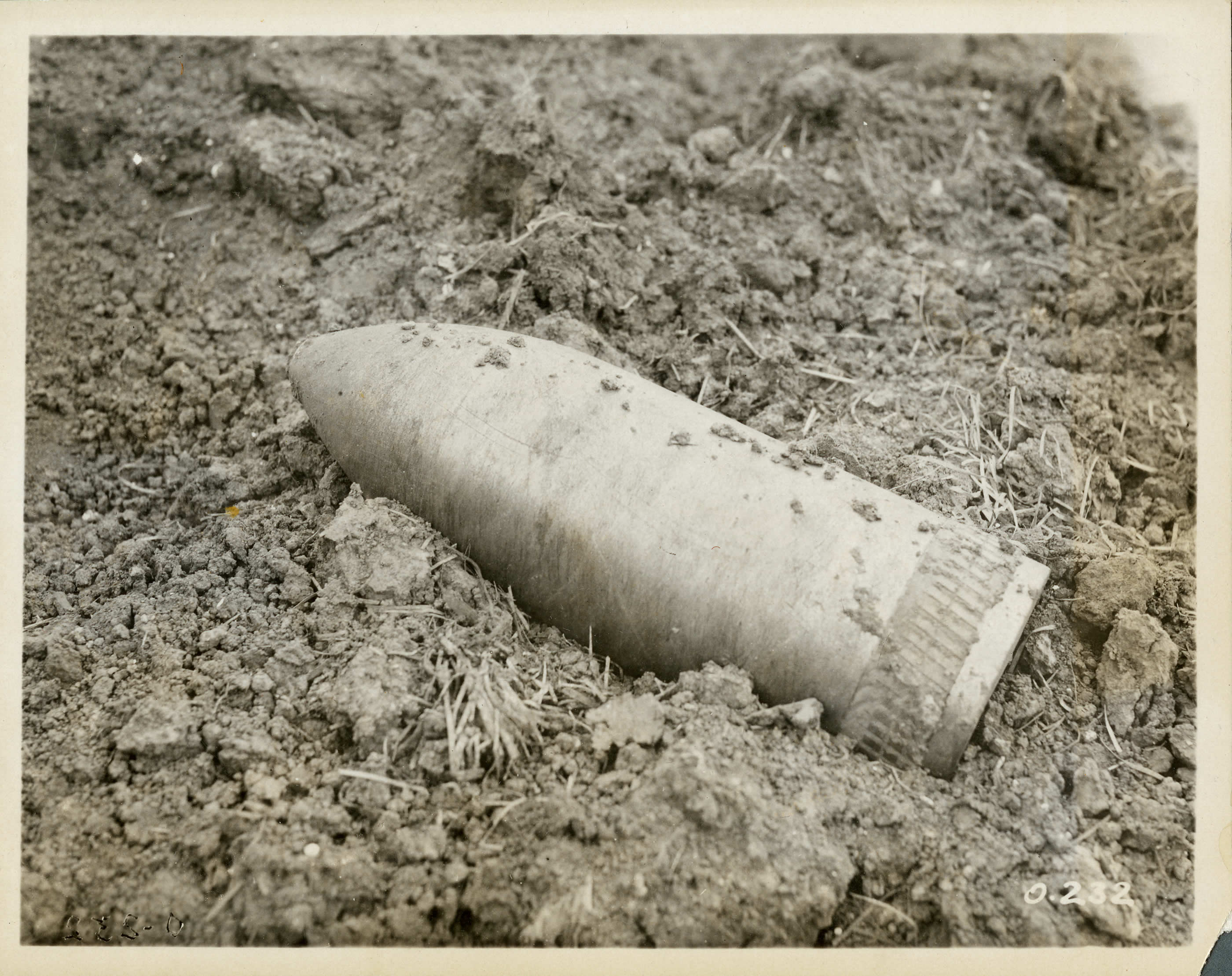 Unexploded 12 Inch Shell