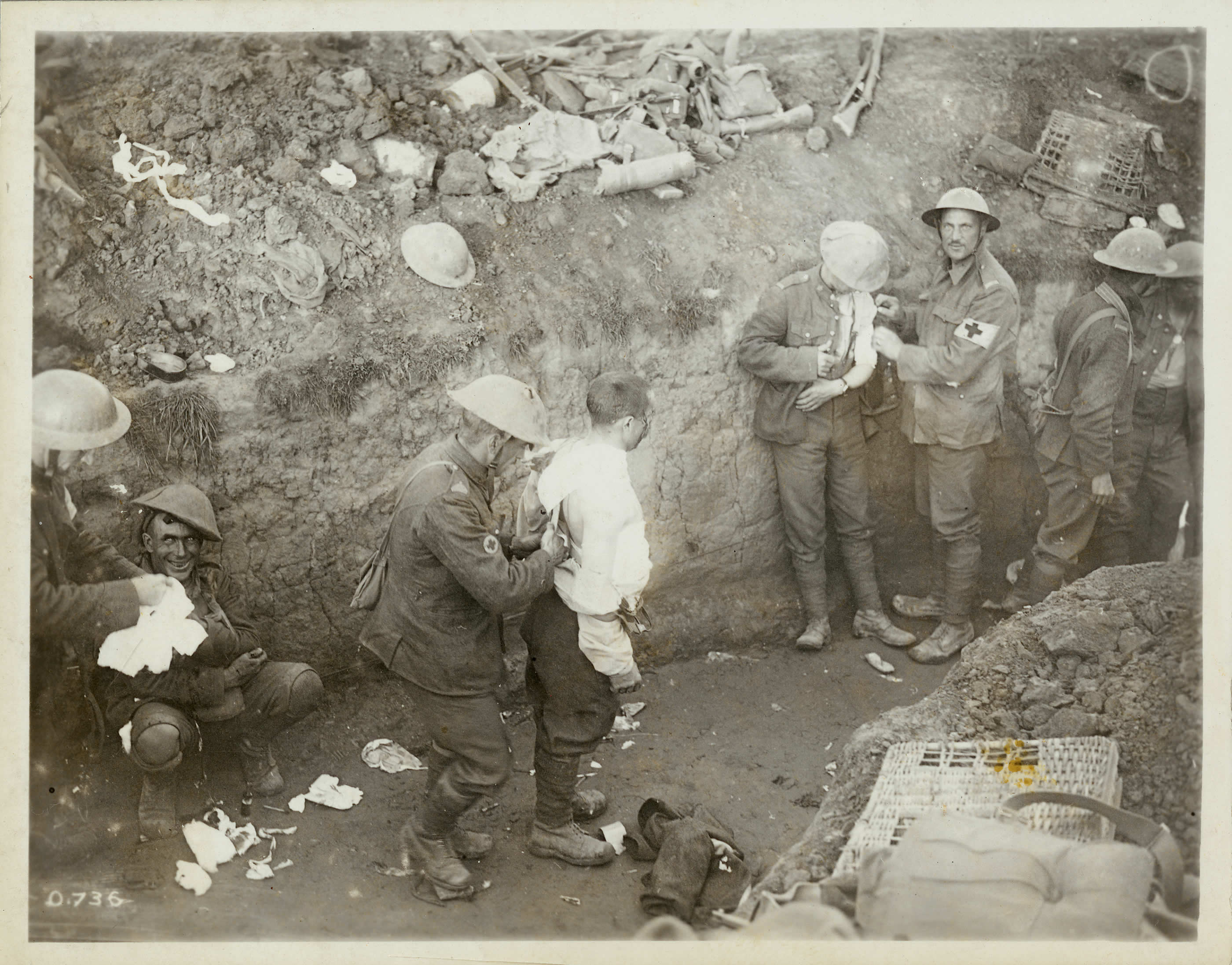Wounded at Courcelette