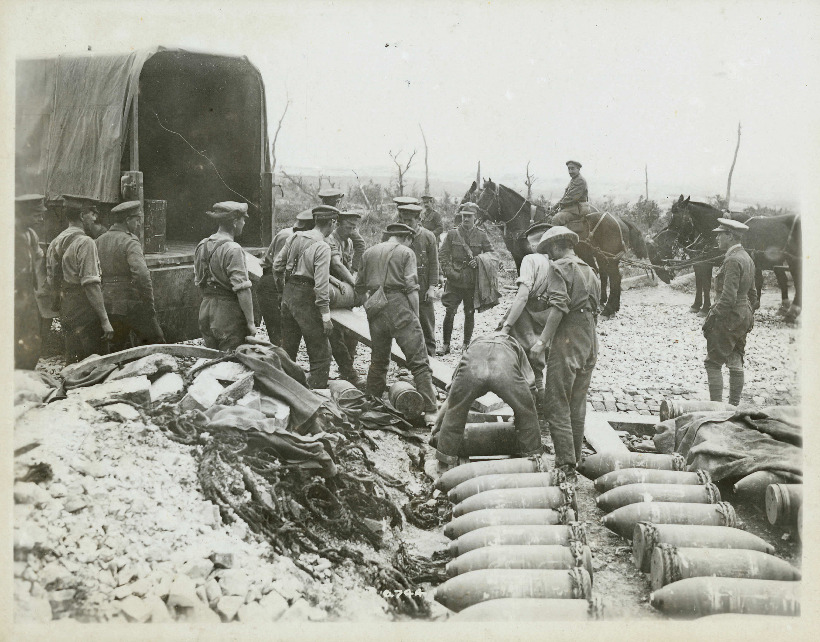 Unloading Heavy Shells