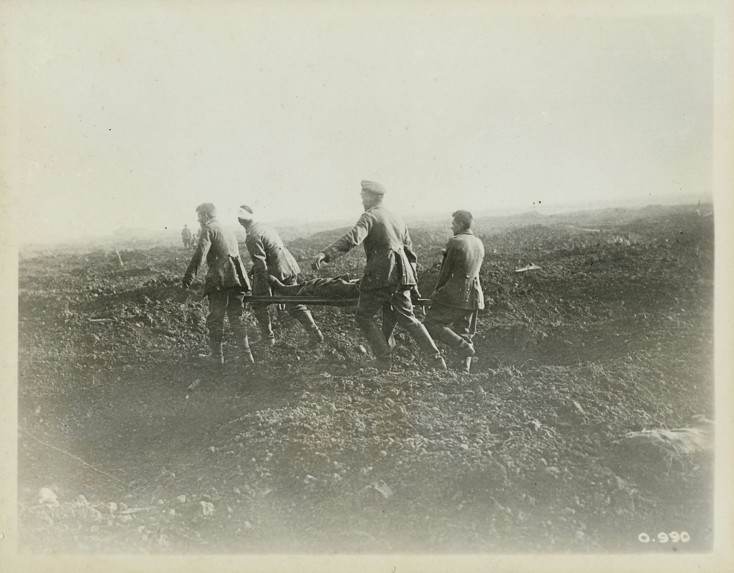 German Prisoners as Stretcher-Bearers