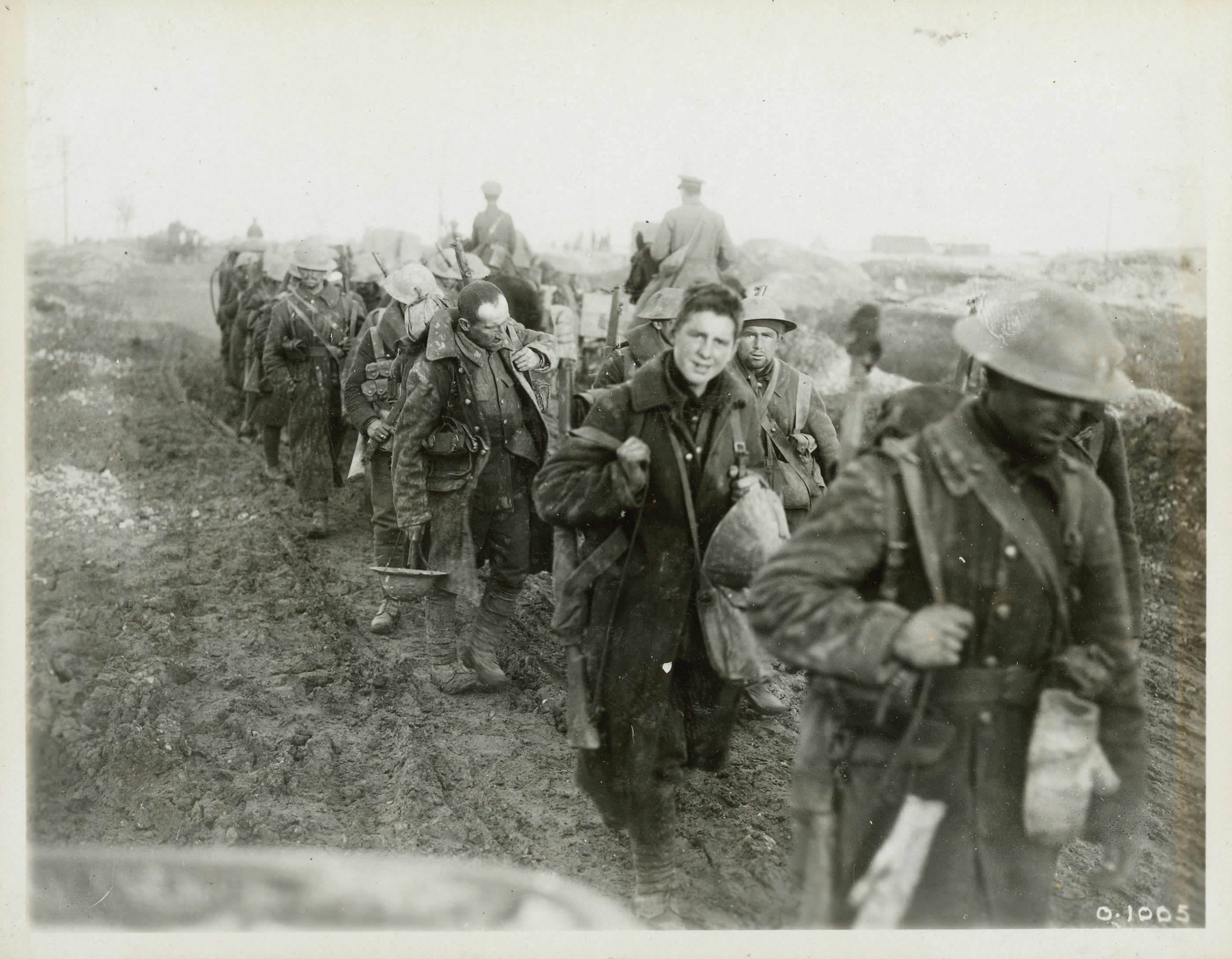 Canadian Troops Return from Trenches