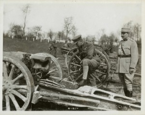 Byng Inspecting Captured Gun