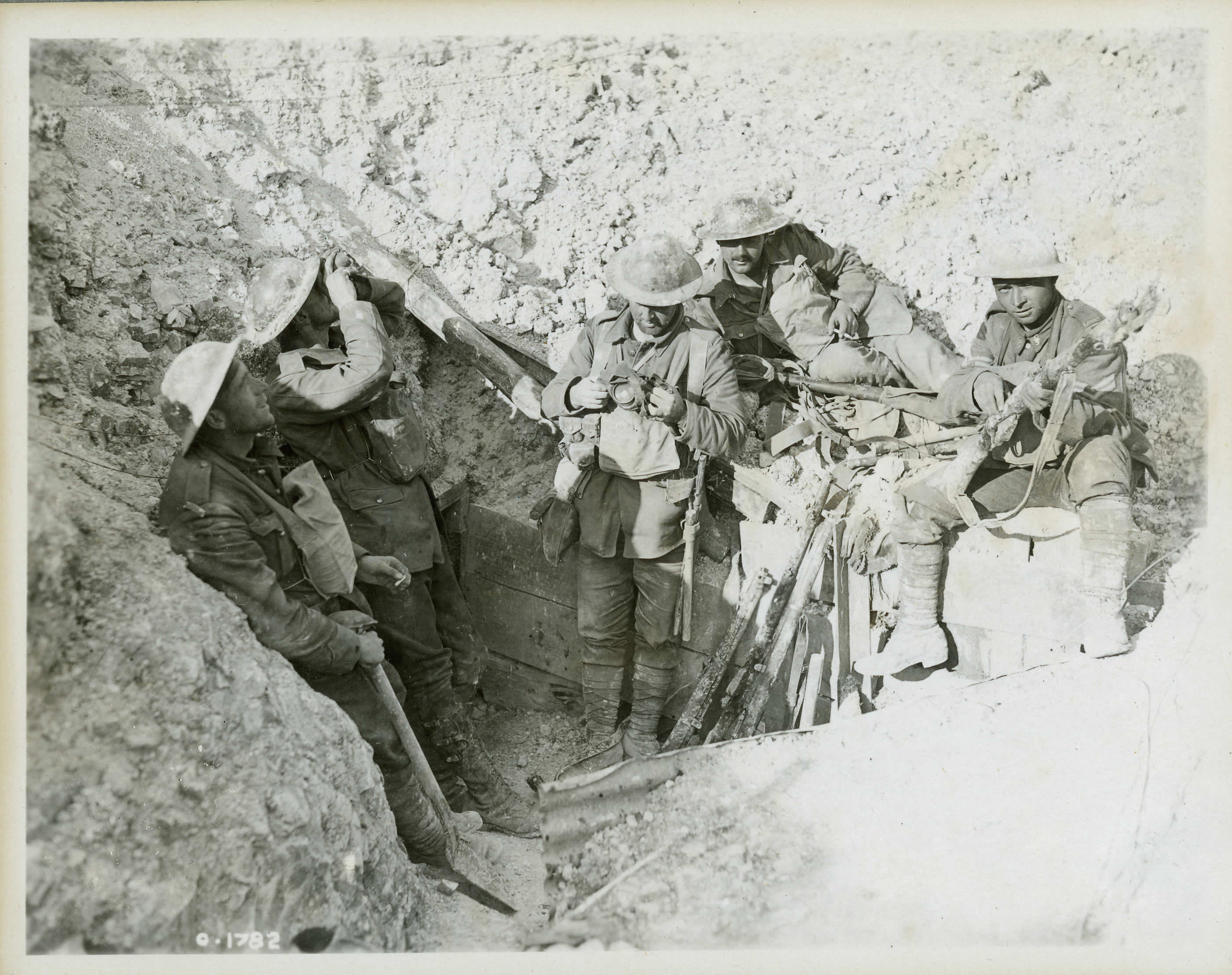 Captured Trenches at Hill 70