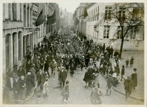 Canadians Marching into Mons