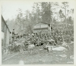 Chaplain Addressing Forestry Corps