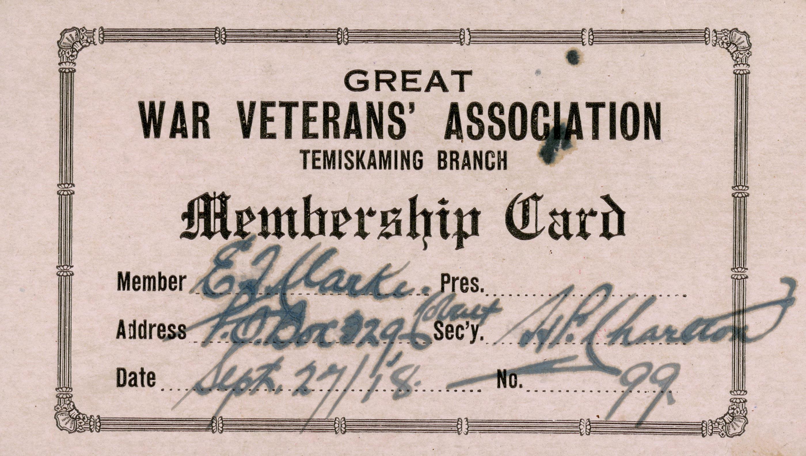 GWVA Membership Card