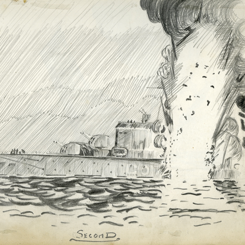 Sketches – The sinking of H.M.C.S. Athabaskan