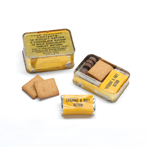 Lifeboat Ration Tin and description
