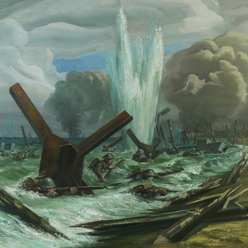 D-Day — The Assault, painted by Orville Fisher