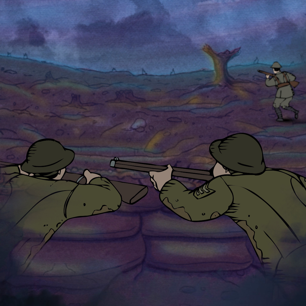 Over the Top - an interactive online adventure that allows you to experience the life in the trenches during the First World War.