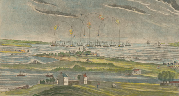 A View of the Bombardment of Fort McHenry, near Baltimore, by the British Fleet … on the Morning of the 13th Sept. 1814