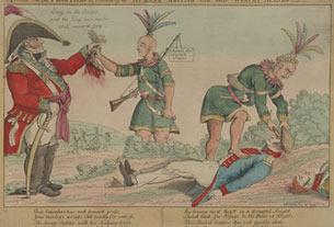 Une scène sur les terres de colonisation illustrant la façon de faire des Britanniques «humanitaires » et de leurs «valeureux » alliés