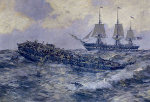 Engagement between the U.S. Frigate Constitution and H.M.S. Guerriere