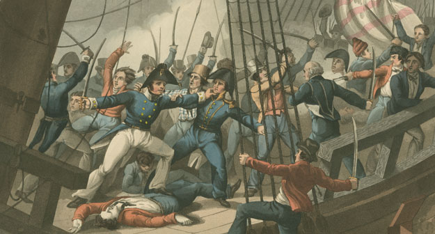 Boarding and Taking the American Ship Chesapeake, by the Officers & Crew of H.M. Ship Shannon, Commanded by Capt. Broke, June 1813